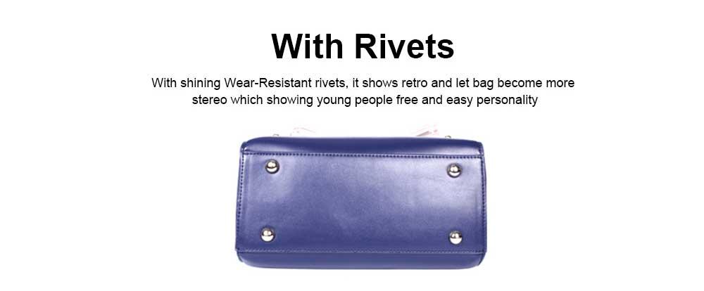 Fashion Female shoulder Bag, Dream Rainbow Decorative Handbag with Adjustable Hand Strap and Metal Zipper 4