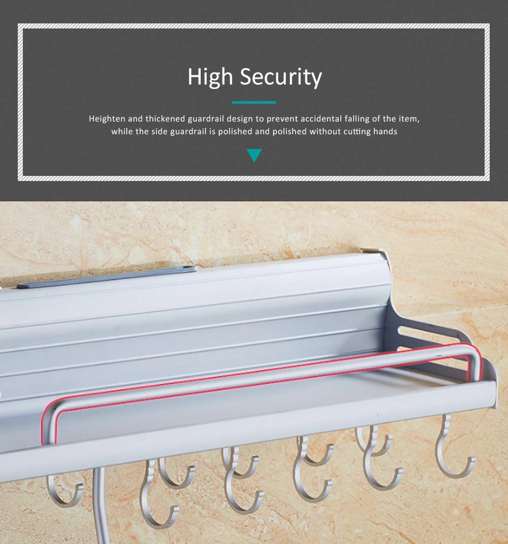 Aluminum Kitchen Rack, Widened Thickened Kitchen Knife Rack Seasoning Storage Hardware Wall Pendant 3