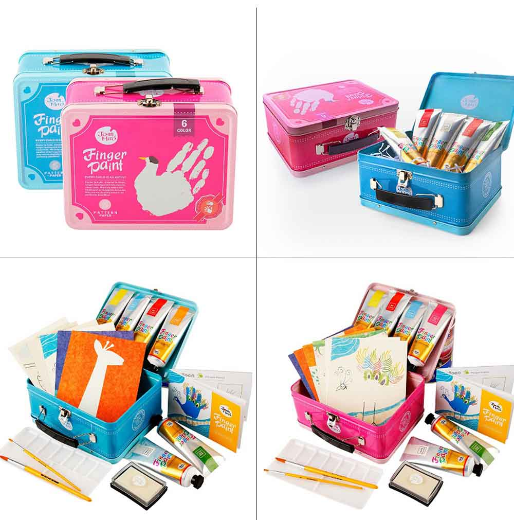 Painting Tool Box For Children, Washing Coloring Painting Material Painting Tool Suitcase 7