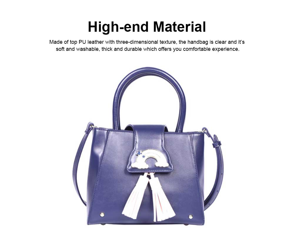 Fashion Female shoulder Bag, Dream Rainbow Decorative Handbag with Adjustable Hand Strap and Metal Zipper 1