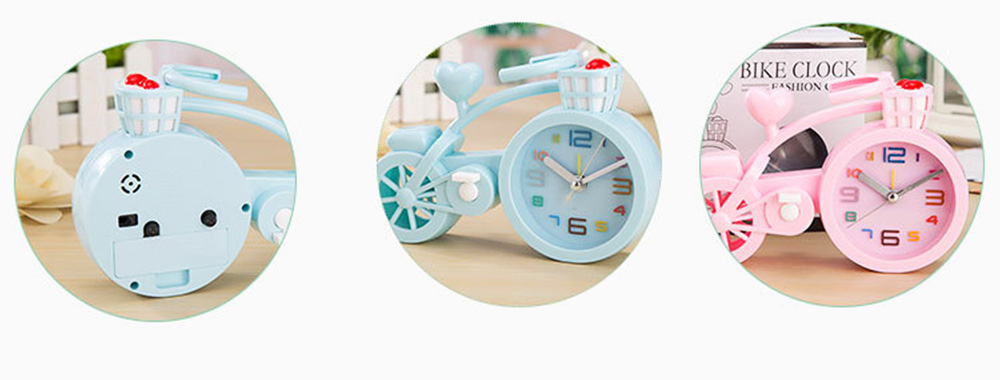 Creative Table Bike Model Alarm Clock, Stylish Minimalist Bicycle Clock 2