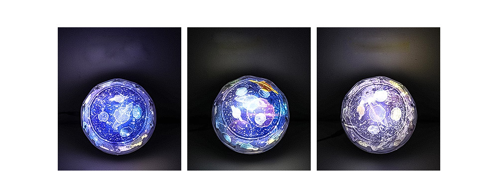 Pretty Starry Sky Ocean Projecting Night Light, Rotation Light Birthday New Year Gift 8
