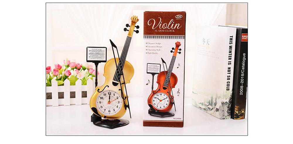 Creative Cello Table Clock, Horological Home Living Room Decoration Graduation Present 4