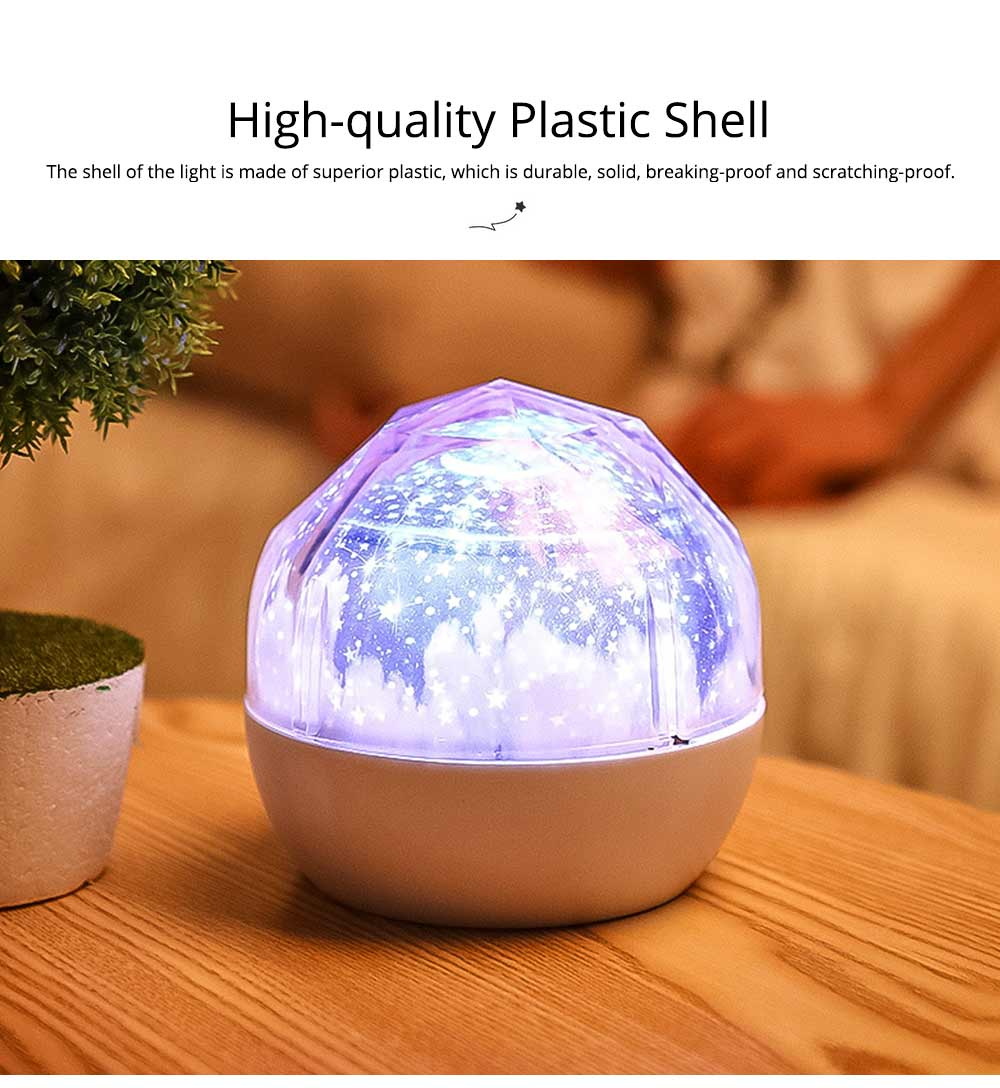 Pretty Starry Sky Ocean Projecting Night Light, Rotation Light Birthday New Year Gift 1