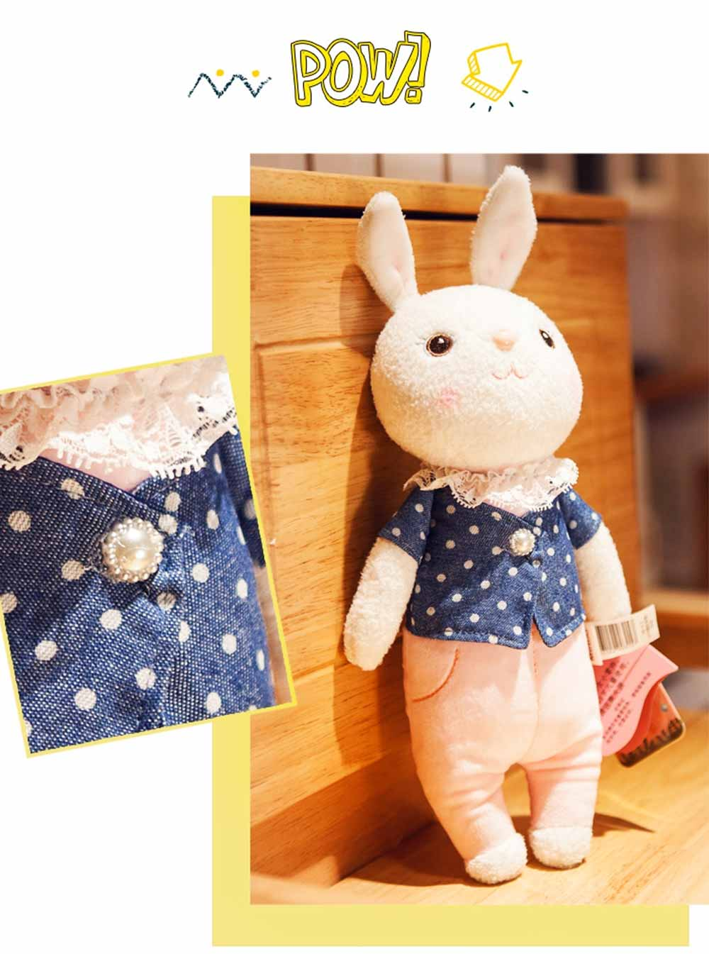 Cute Cartoon Tiramitu Rabbit Plush Stuffed Toy, Ultrasoft Smooth Children's Day Present Doll 2