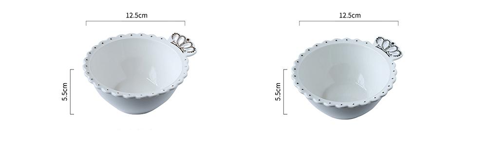 Crown Dinner Plates 10 inches, Porcelain Ceramic Breakfast Tray Steak Plate 19