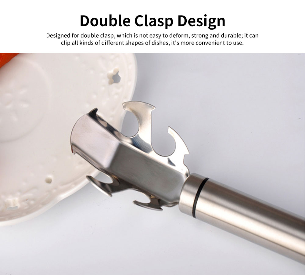 Beer Bottle Opener Dishes Gripper Clip, Multiple Function Anti-hot Bowl Holder Clamp Gadgets 5