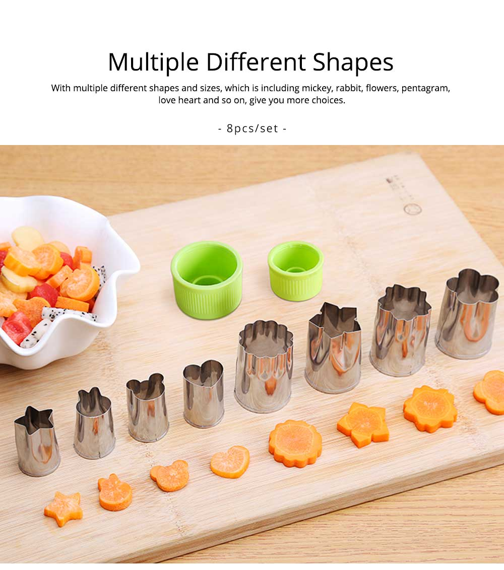 Vegetables and Fruit Shape Cutters Set, Stainless Steel Baking Cookie Mold ( 8PCS/12PCS) 3