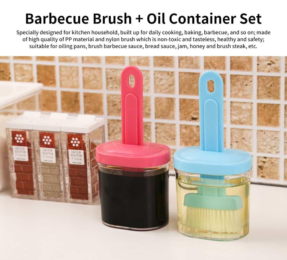 Oil Bottle and Brush, Baking Brush Barbecue Utensil 0