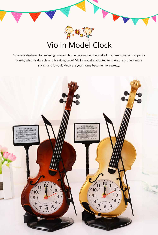 Creative Cello Table Clock, Horological Home Living Room Decoration Graduation Present 0