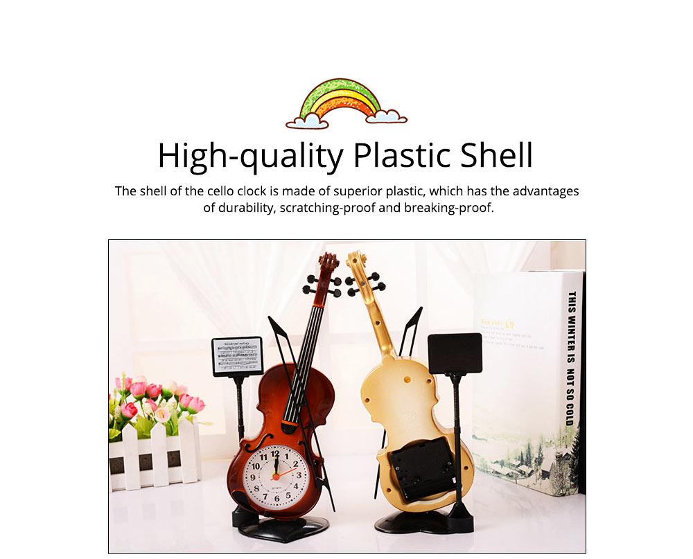 Creative Cello Table Clock, Horological Home Living Room Decoration Graduation Present 1