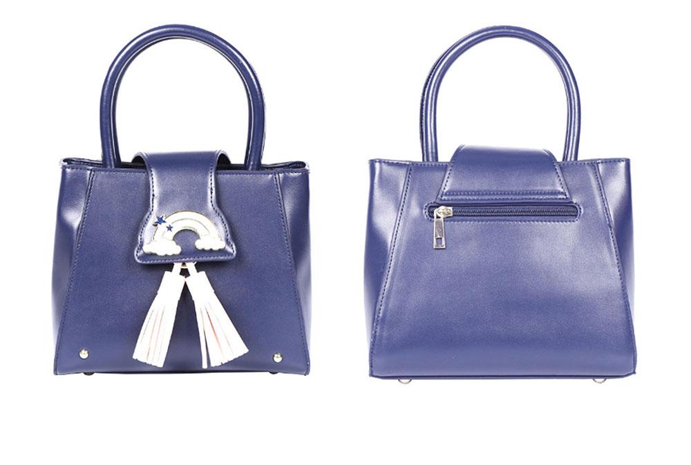 Fashion Female shoulder Bag, Dream Rainbow Decorative Handbag with Adjustable Hand Strap and Metal Zipper 8