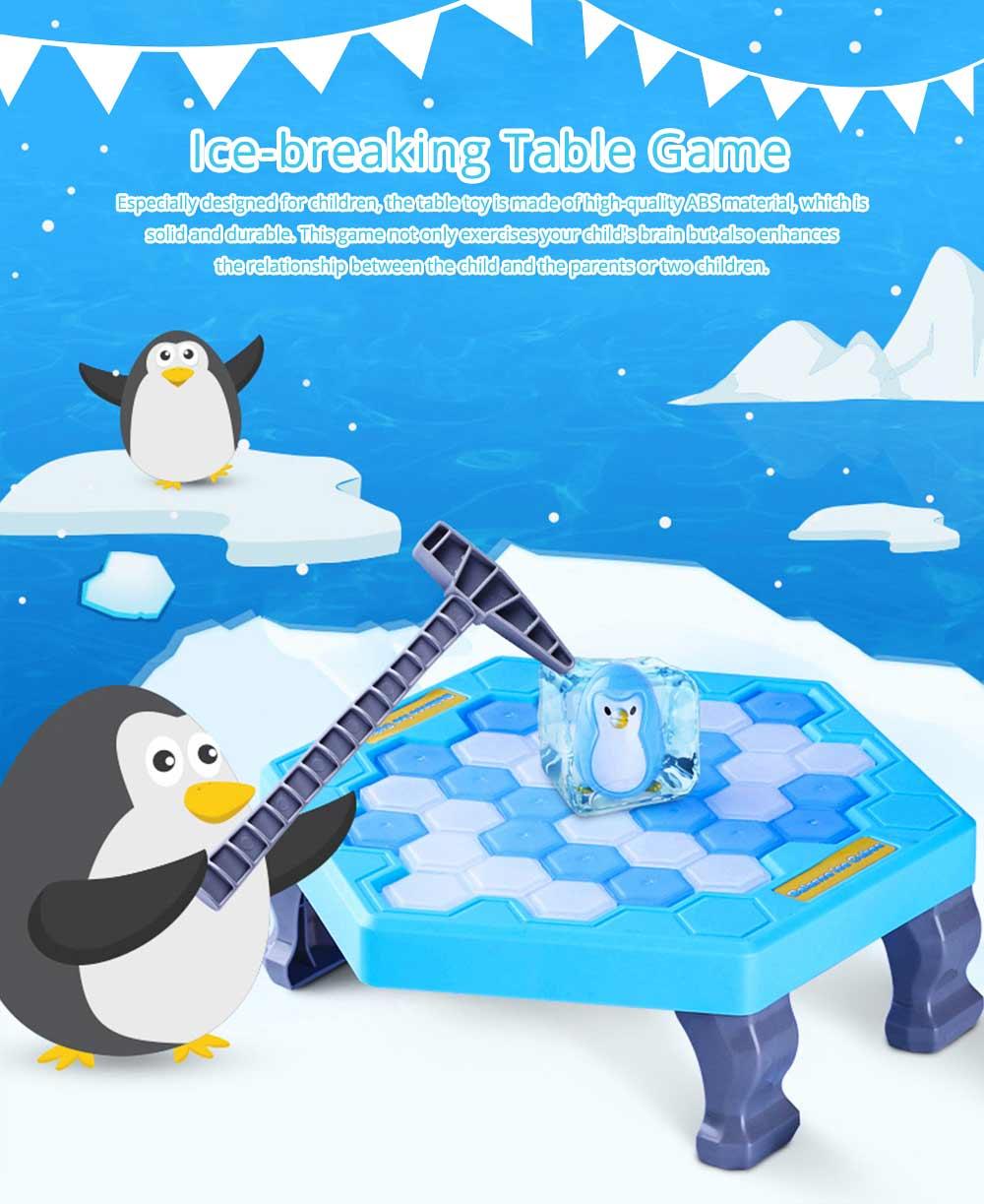 Tricky Funny Penguin Saving Ice-breaking Table Game For Children 0