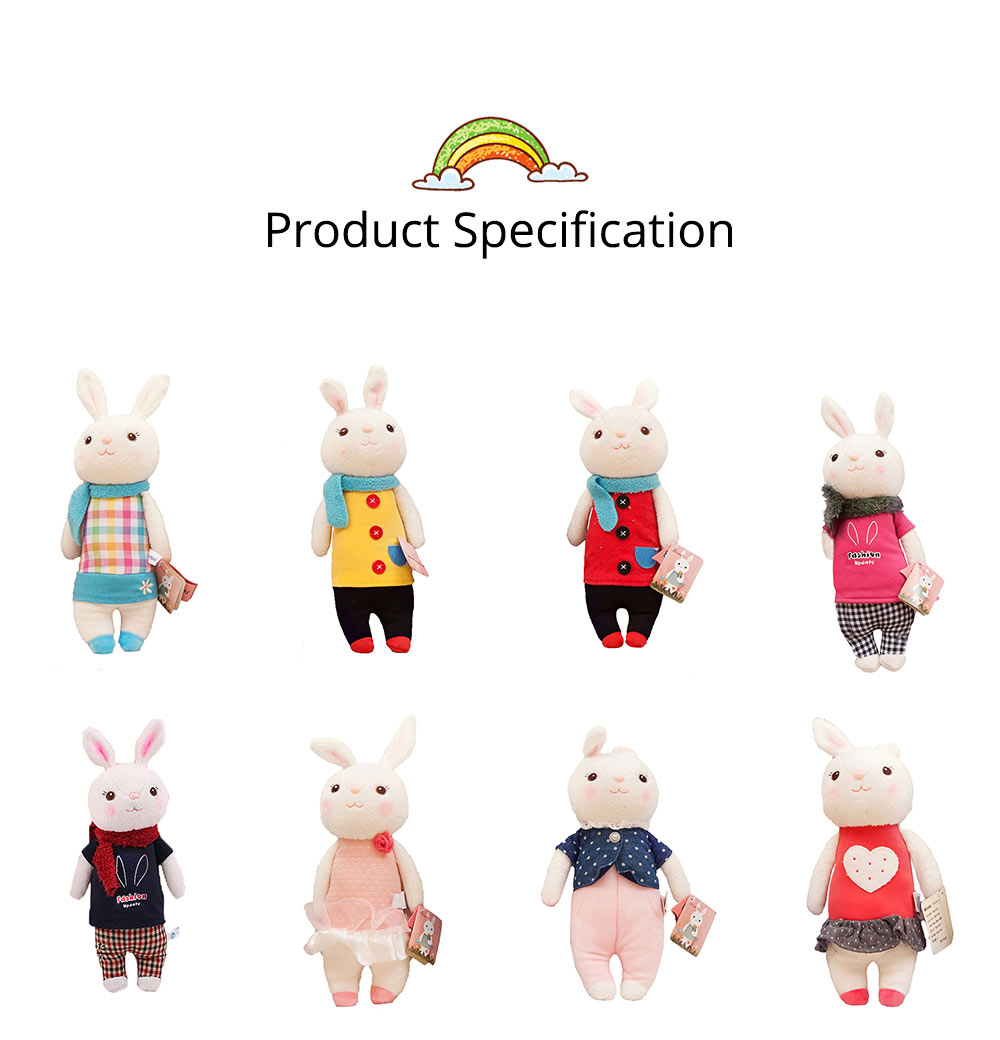 Cute Cartoon Tiramitu Rabbit Plush Stuffed Toy, Ultrasoft Smooth Children's Day Present Doll 8