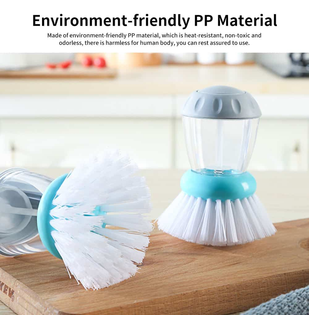 Pot Pan Dish Brush, Press-type Cleaner Kitchen Brush Dish Wash Scrubber 2