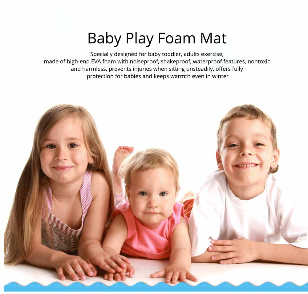 Baby Play Foam Mat, Nontoxic Puzzle Foam Pad, Baby Crawls Cushion 0