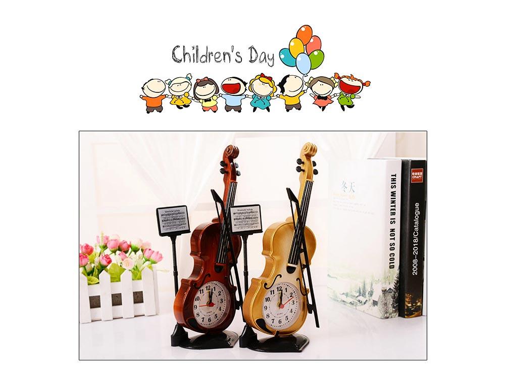 Creative Cello Table Clock, Horological Home Living Room Decoration Graduation Present 8