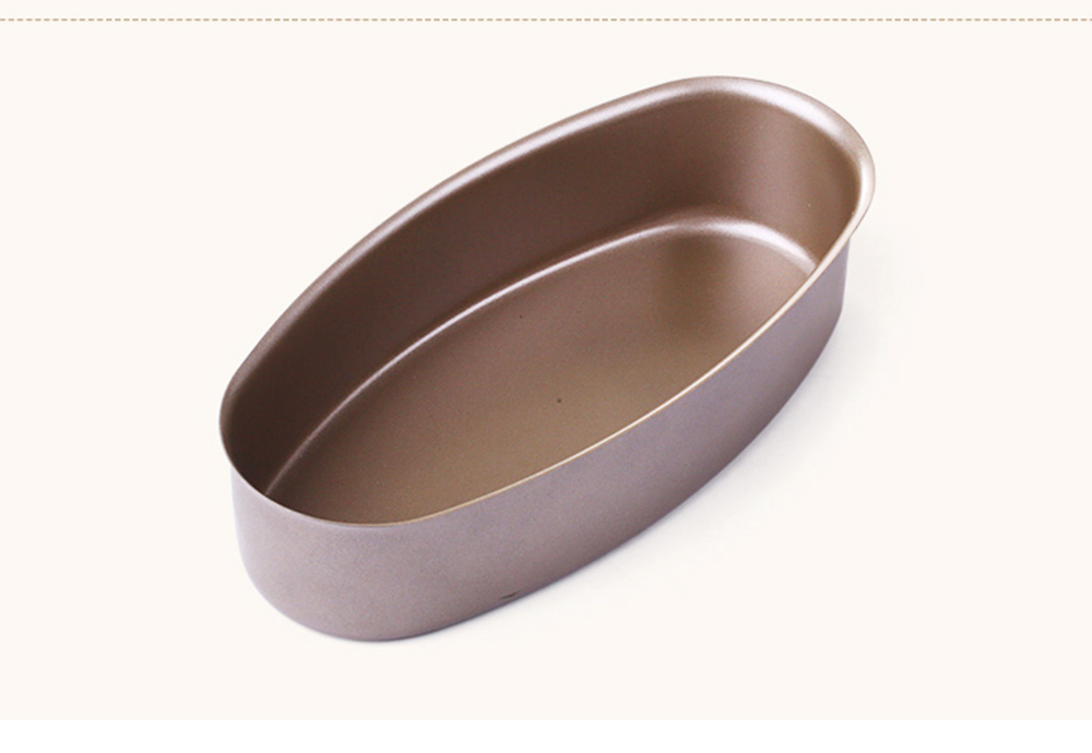Oval Cheese Cake Mold, Non Stick Carbon Steel Cake Pan Pudding Mold Baking Tray 6