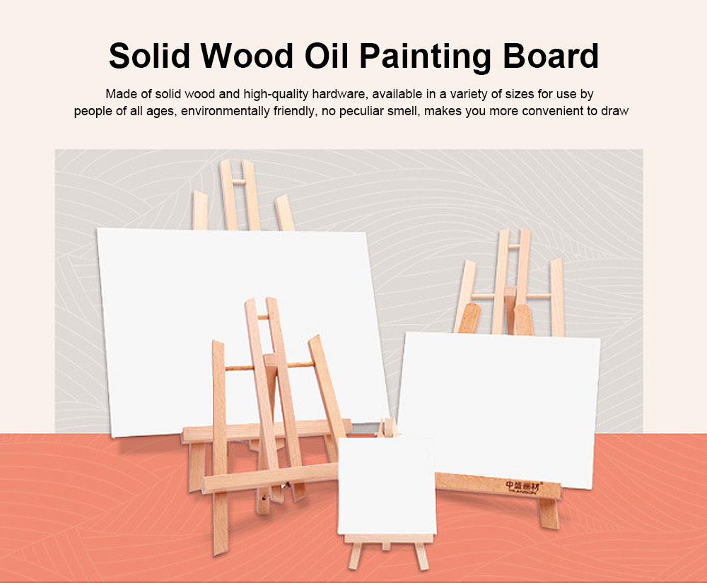 Oil Painting Wooden Board, Mini Eucalyptus Floor Triangle Small Easel 0
