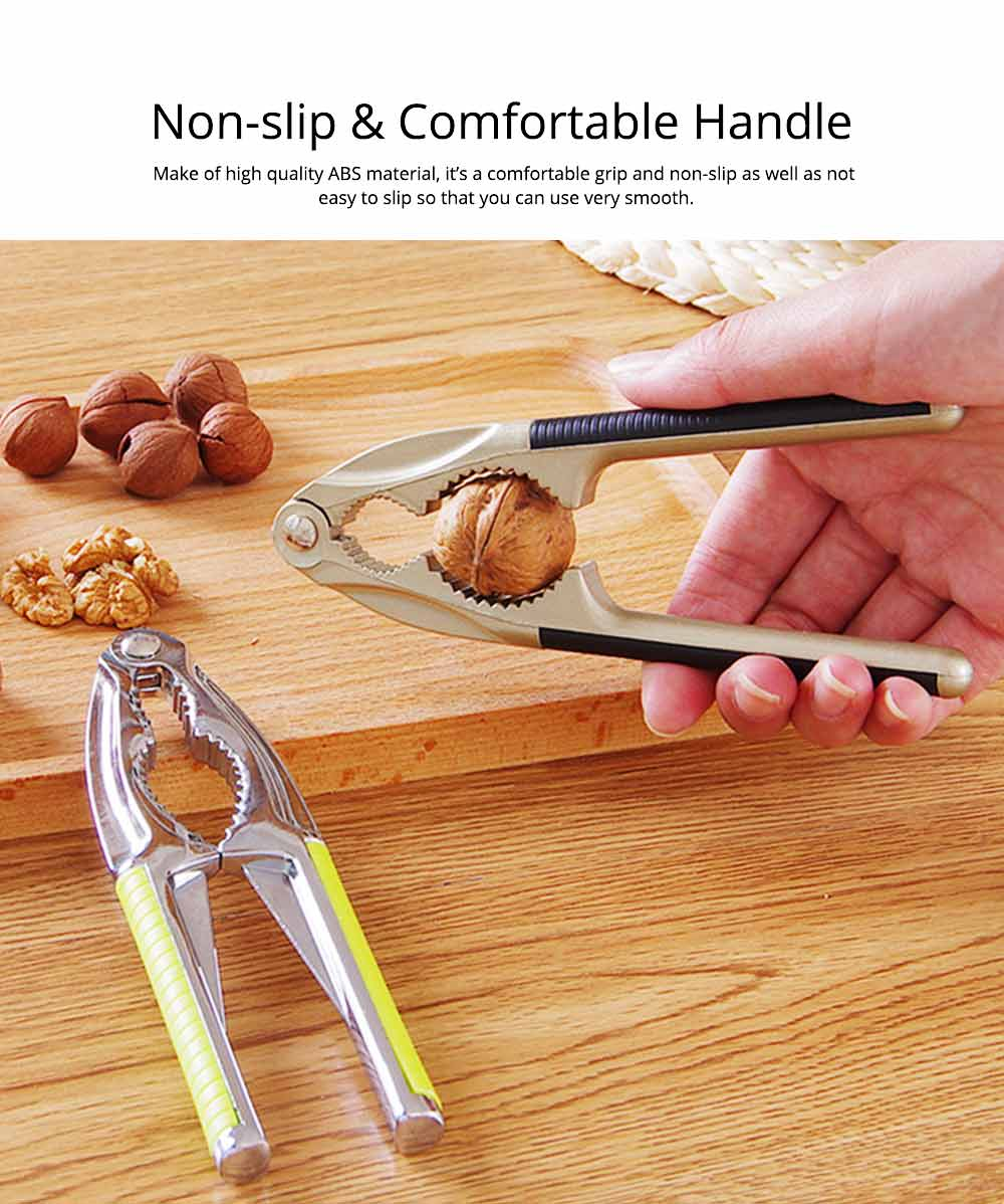 Multipurpose Nut Cracker for All Nuts, Walnut Cracker with Non Slip Soft Padded Handle and Durable Anti Bend Zinc Alloy 2