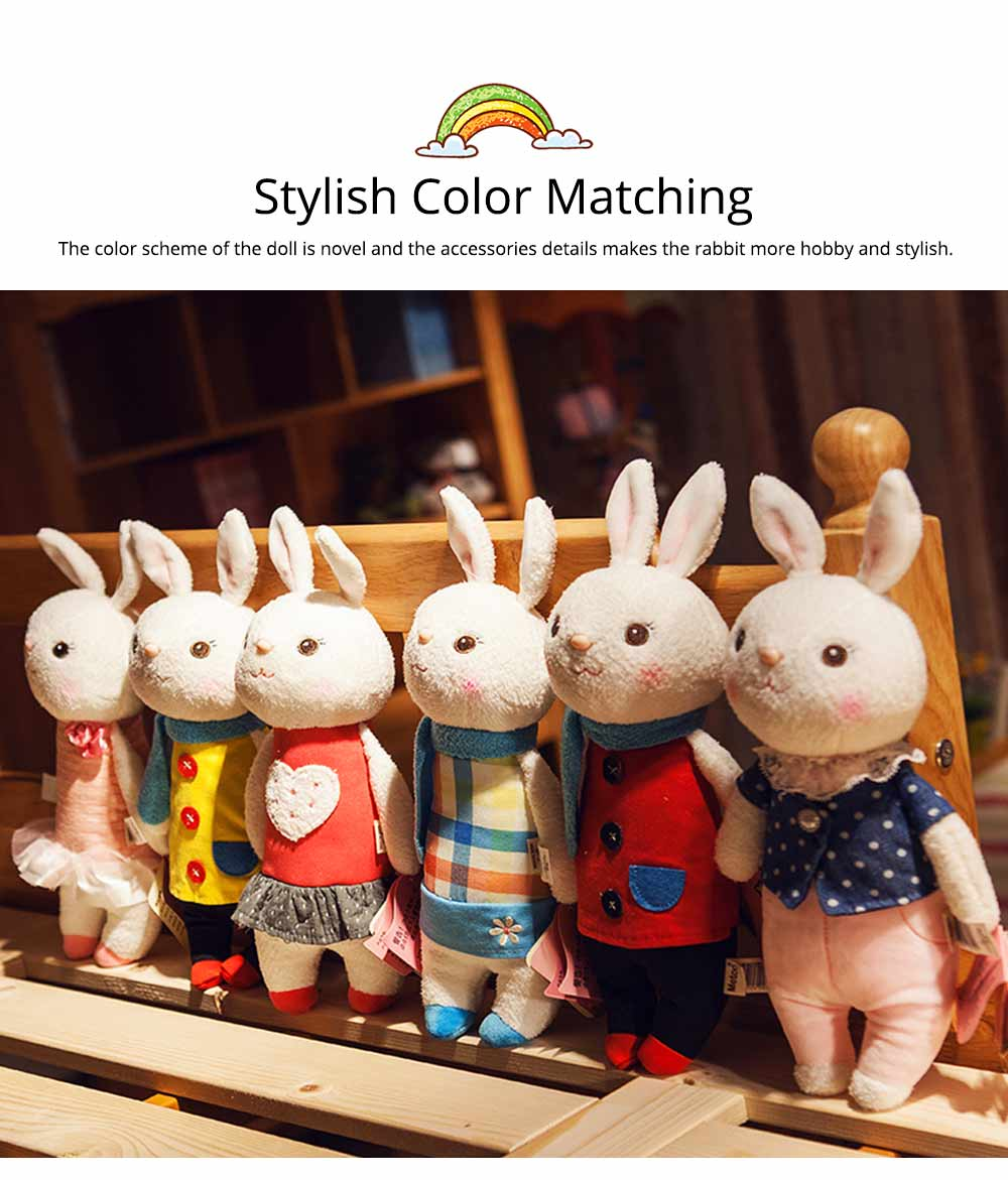Cute Cartoon Tiramitu Rabbit Plush Stuffed Toy, Ultrasoft Smooth Children's Day Present Doll 4