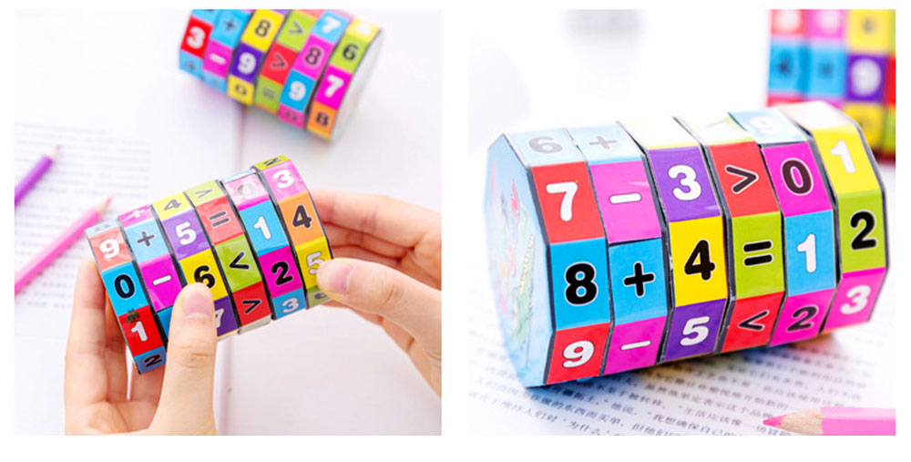 6 Layers Number Mathematical Children Puzzle Magic Cube, Creative Arithmetic Calculation Early Education Toy For Kids 4
