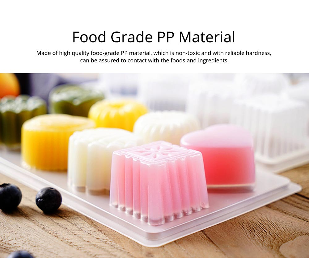 2PCS Jelly Pudding Mould, DIY Baking Chocolate Pudding Ice Cube Making Mold, 8 Cube 1