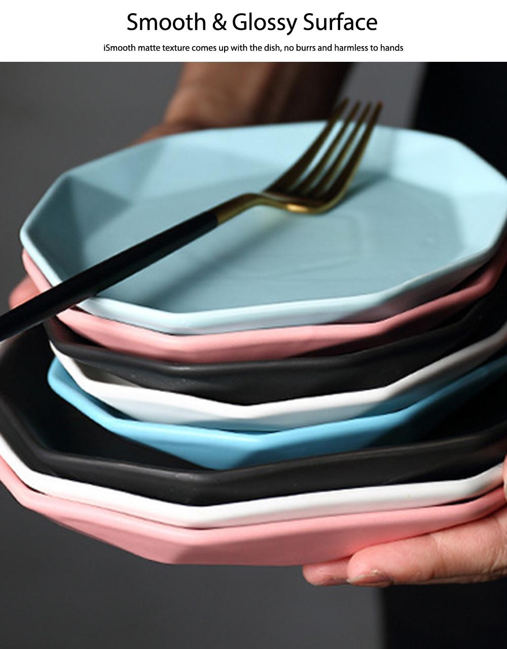 Matte Dinner Plates, Ceramic Service Dishes For Salad, Pot Pie, Pizzas, Popcorn, Fruits 2