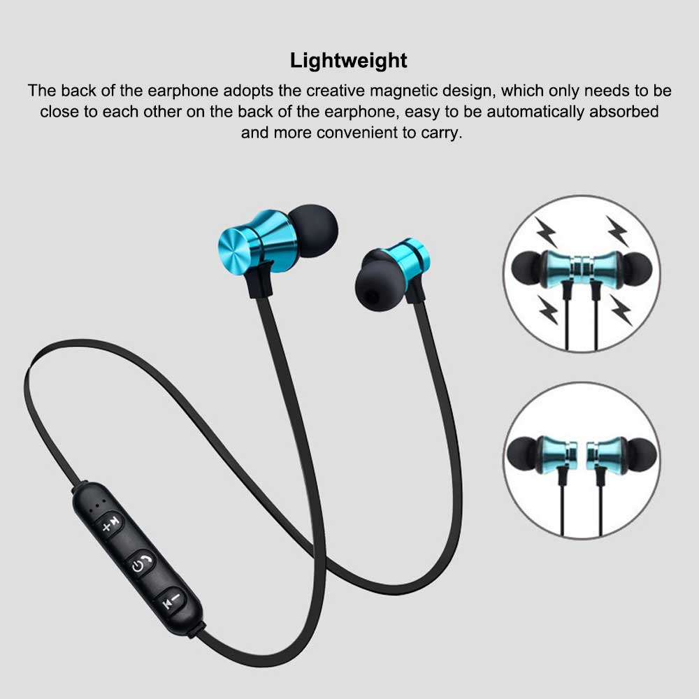 Magnetic Sports Music 4.2 In-Ear Bluetooth Headset, Neck-mounted Bluetooth Headset 2