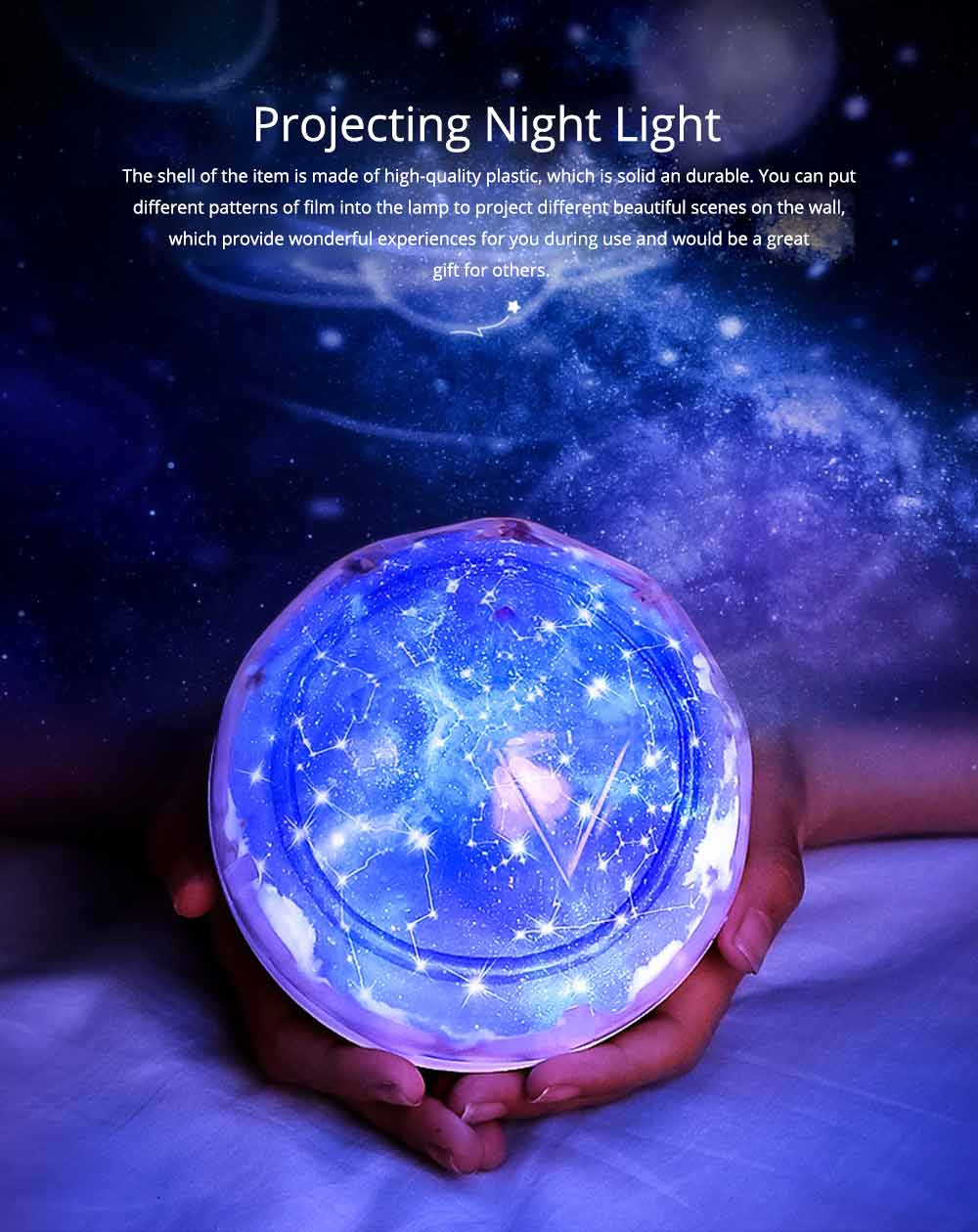 Pretty Starry Sky Ocean Projecting Night Light, Rotation Light Birthday New Year Gift 0
