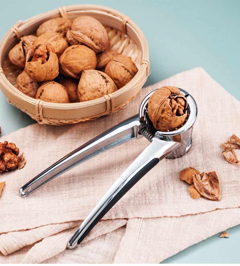 Splash Proof Nut Cracker for Various Nuts, Multifunctional Walnut Clip with V-shape Funnel Design 0
