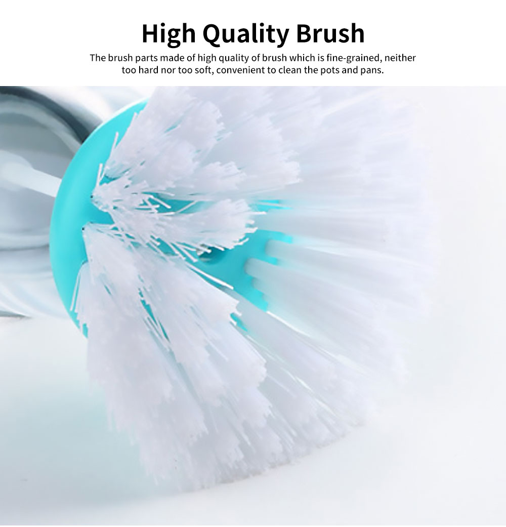 Pot Pan Dish Brush, Press-type Cleaner Kitchen Brush Dish Wash Scrubber 1
