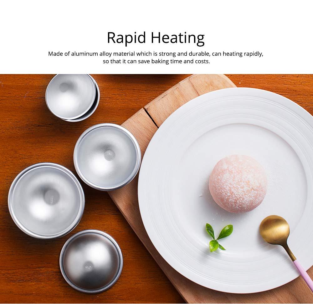 Semi Circle Pastry Mold, Aluminum Alloy DIY Bath Salt Bomb Molds 3