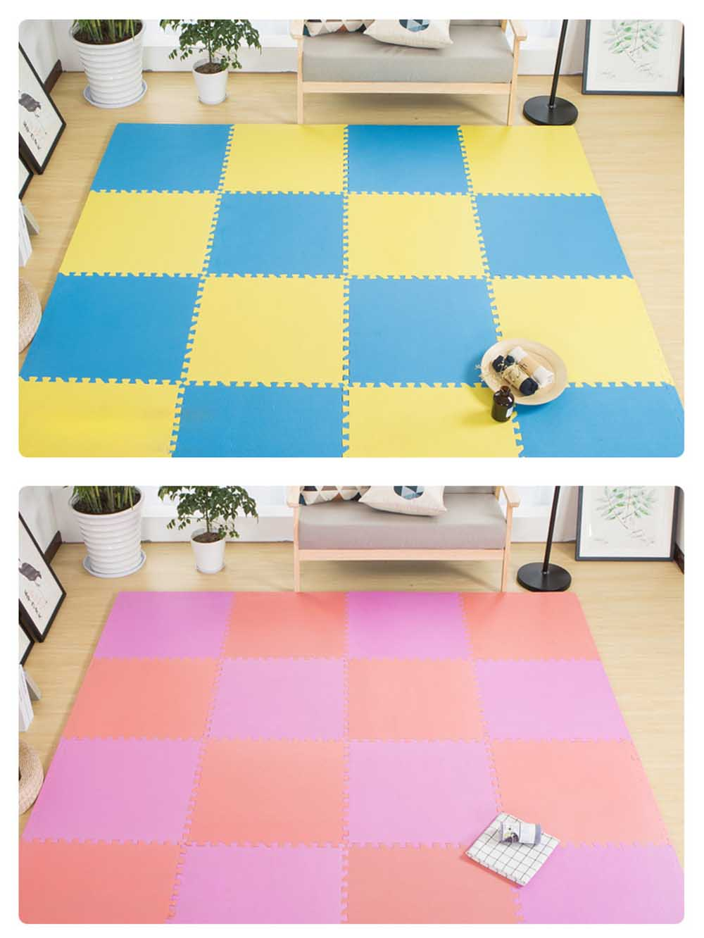 Baby Play Foam Mat, Nontoxic Puzzle Foam Pad, Baby Crawls Cushion 6