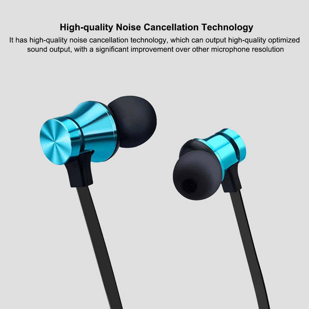 Magnetic Sports Music 4.2 In-Ear Bluetooth Headset, Neck-mounted Bluetooth Headset 4