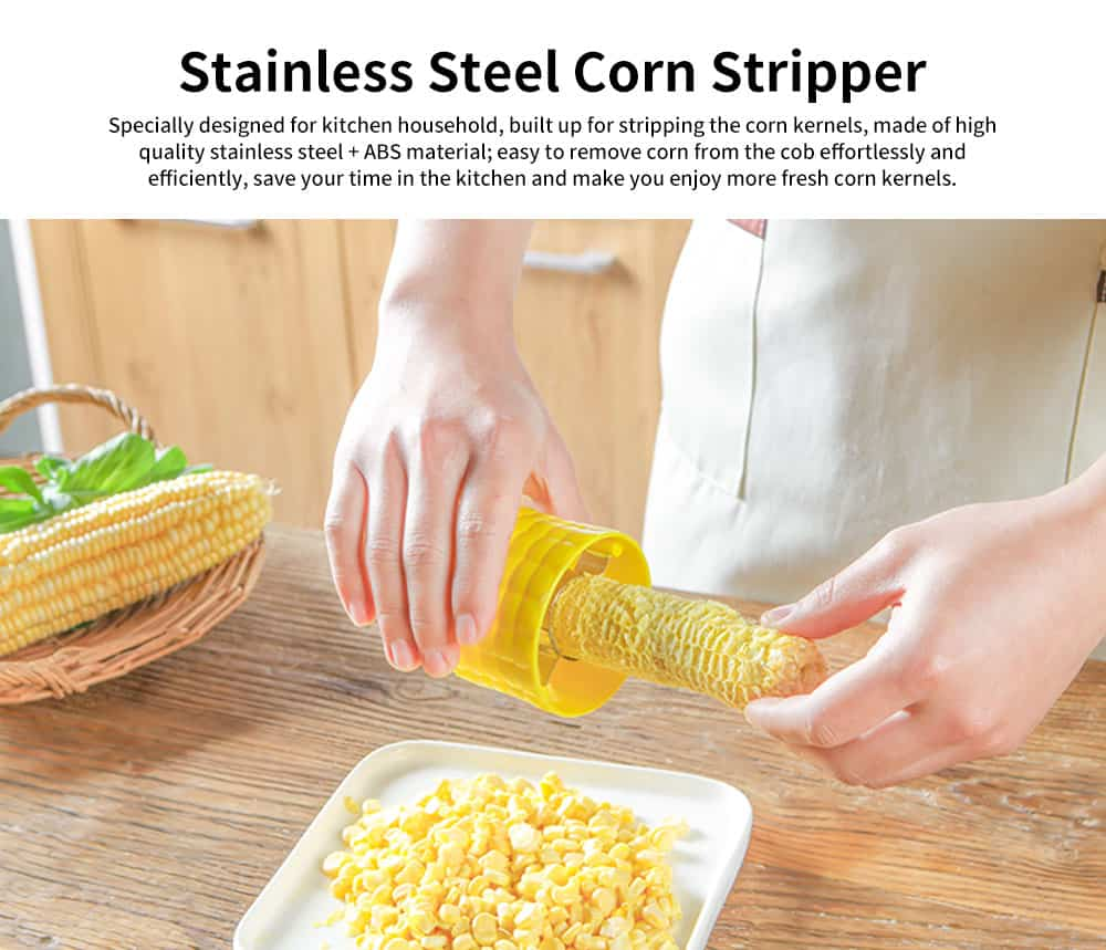 Corn Stripping Tool Corn Stripper Peeler, Stainless Steel Corn Remover Shaver 0