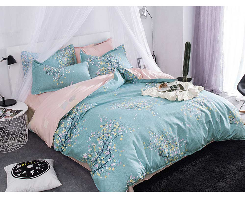 Simple Style Quilt Cover Sheet Pillowcase Bedding Set 4 Pieces 10