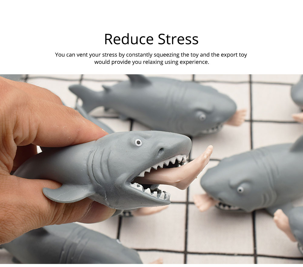 Tricky Soft Man-eating Shark Shape Squeeze Toys,  Interesting Adults Decompression Export Pinch Toys 4