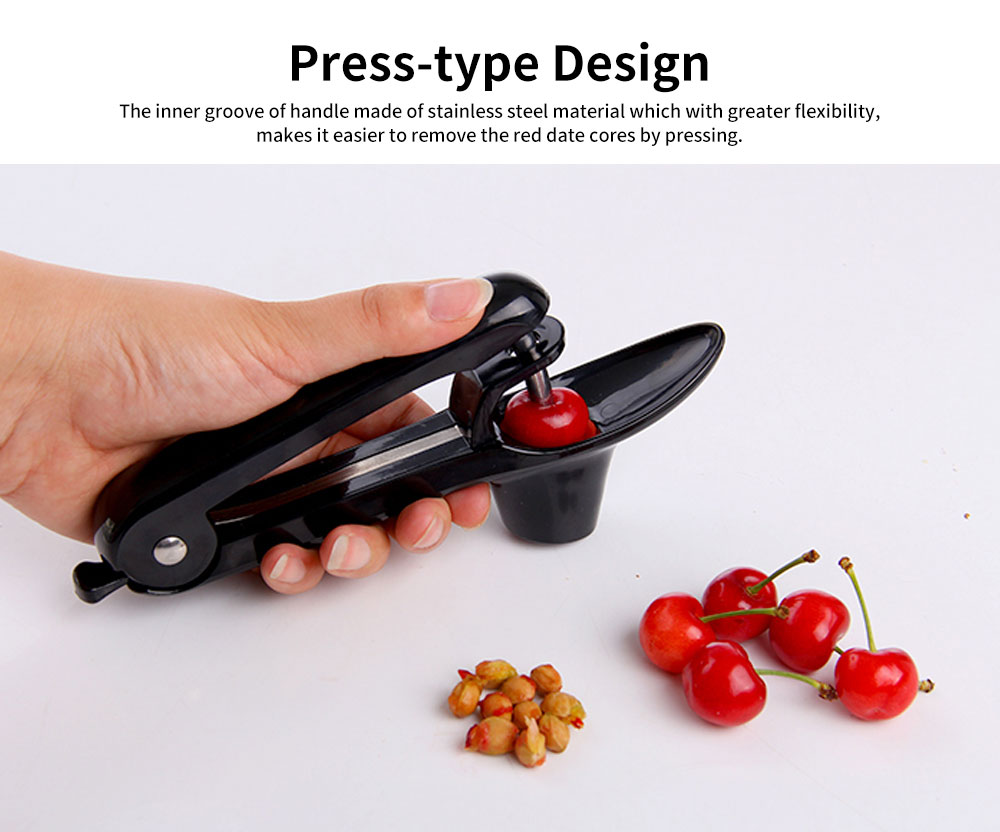 Cherry Pitter Tool Red Date Corer, Stainless Steel Olives Fruit Pitter 3