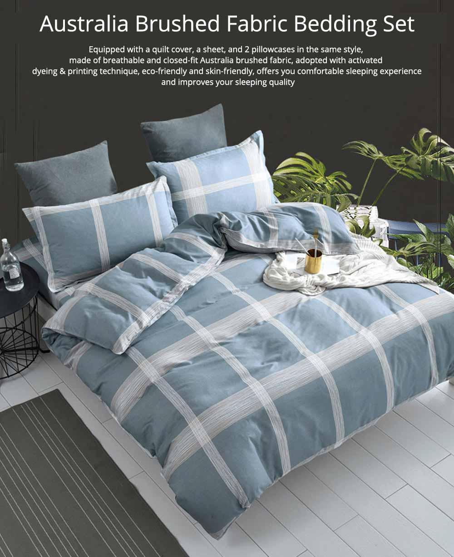 Australia Brushed Cotton Bedding Set 4 Pieces, 200*230 CM Bedding Set 0