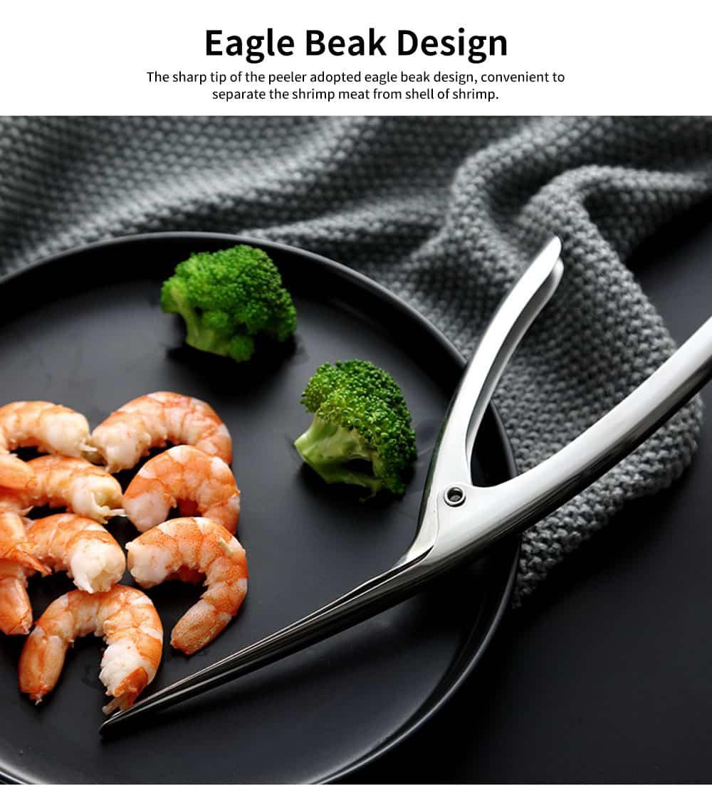 Professional Shrimp Peeling Tool, Stainless Steel Shrimp Peeler Knife 2