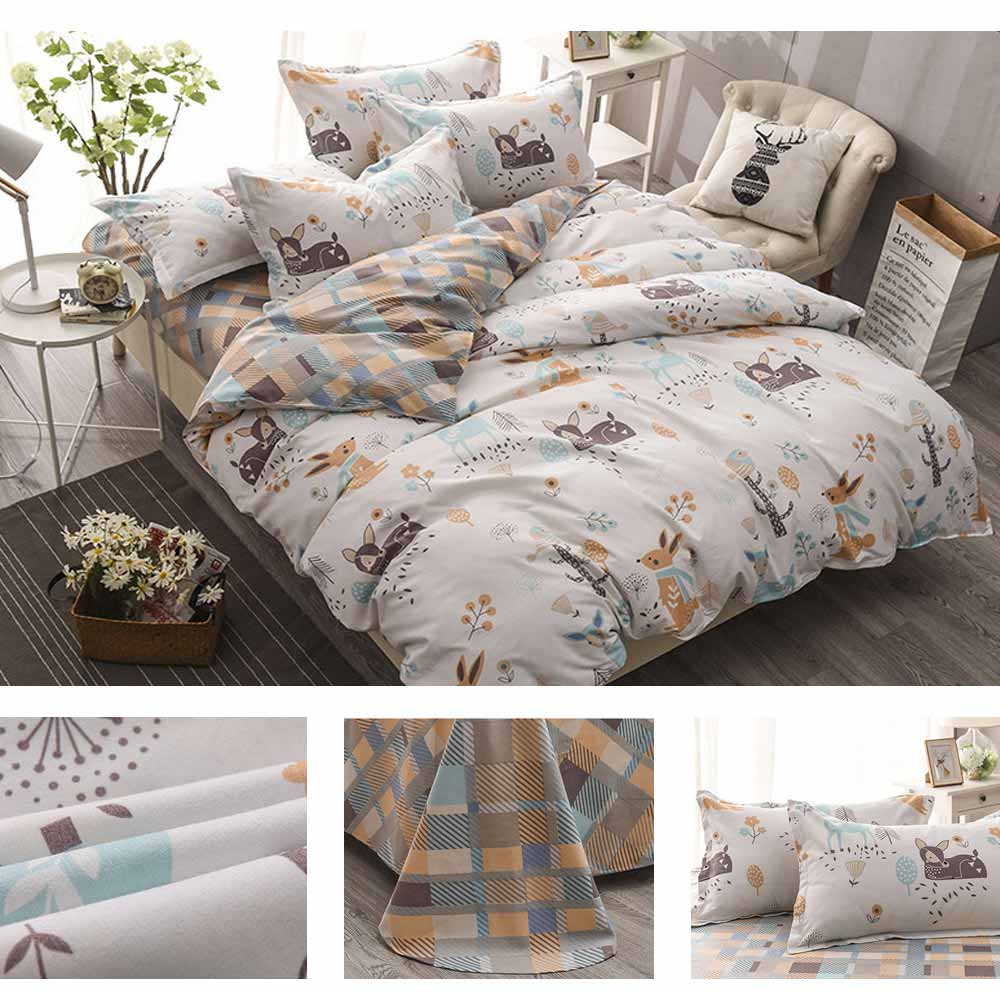 Simple Style Quilt Cover Sheet Pillowcase Bedding Set 4 Pieces 5
