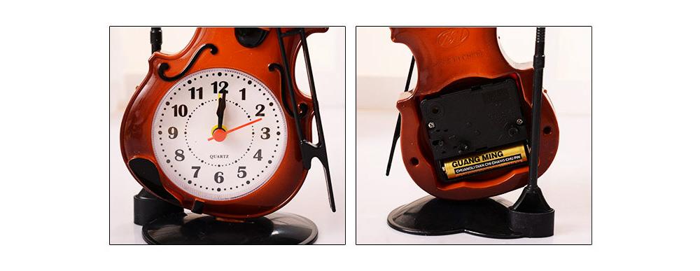 Creative Cello Table Clock, Horological Home Living Room Decoration Graduation Present 6