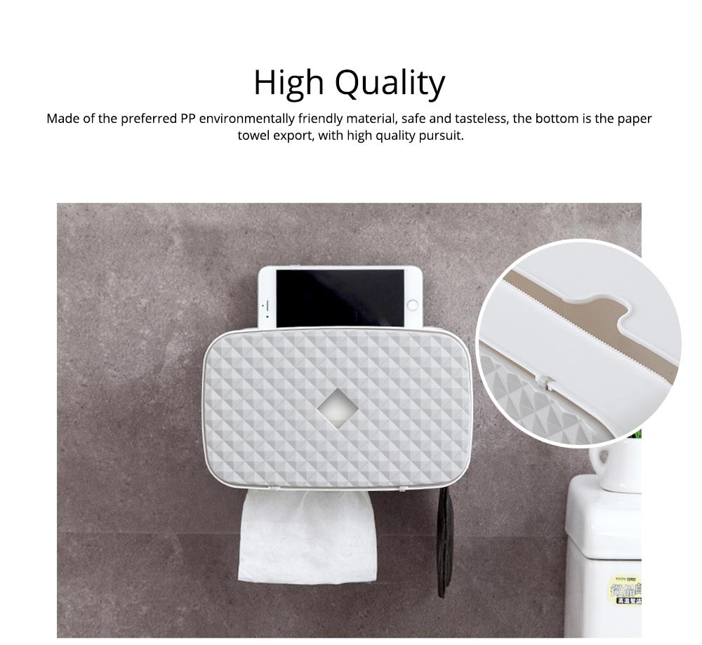 Bathroom Paper Hand Towel Tray, Waterproof Toilet Paper Rack, Punch-Free 1