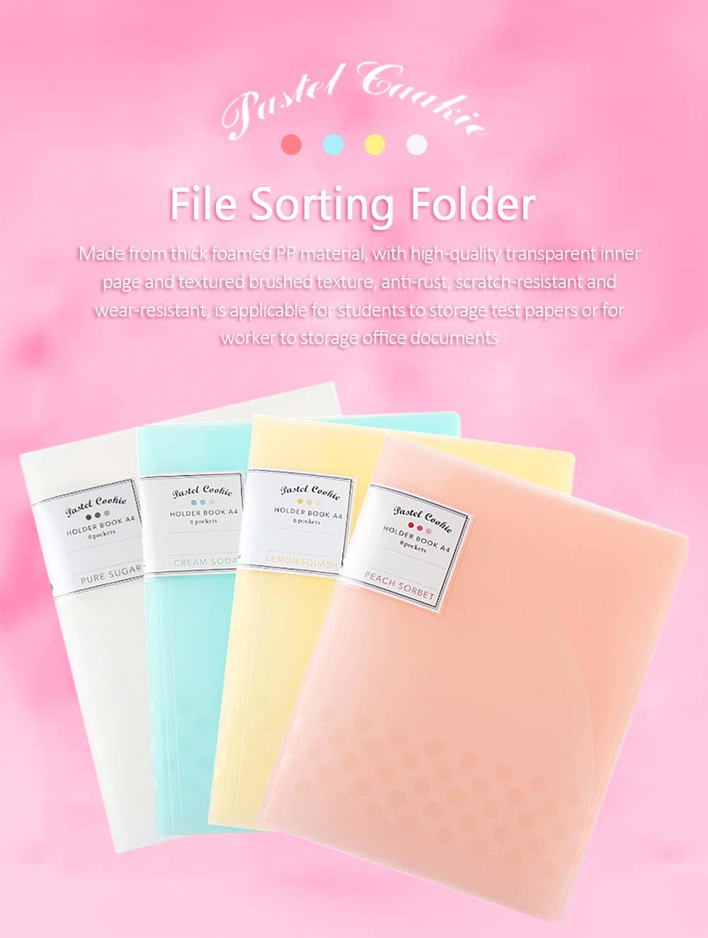 File Sorting Folder, Light Color Cookie A4 File Folder 0