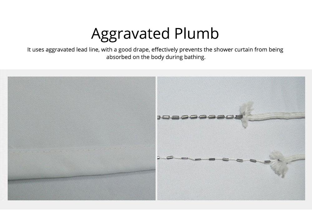 Cartoon Rabbit Shower Curtain, Waterproof American Polyester Shower Curtain 8