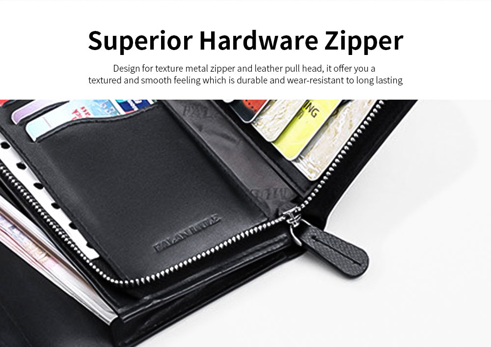 Anti-theft Long Leather Wallet, Business Casual Wallet with Large Capacity for Men 5