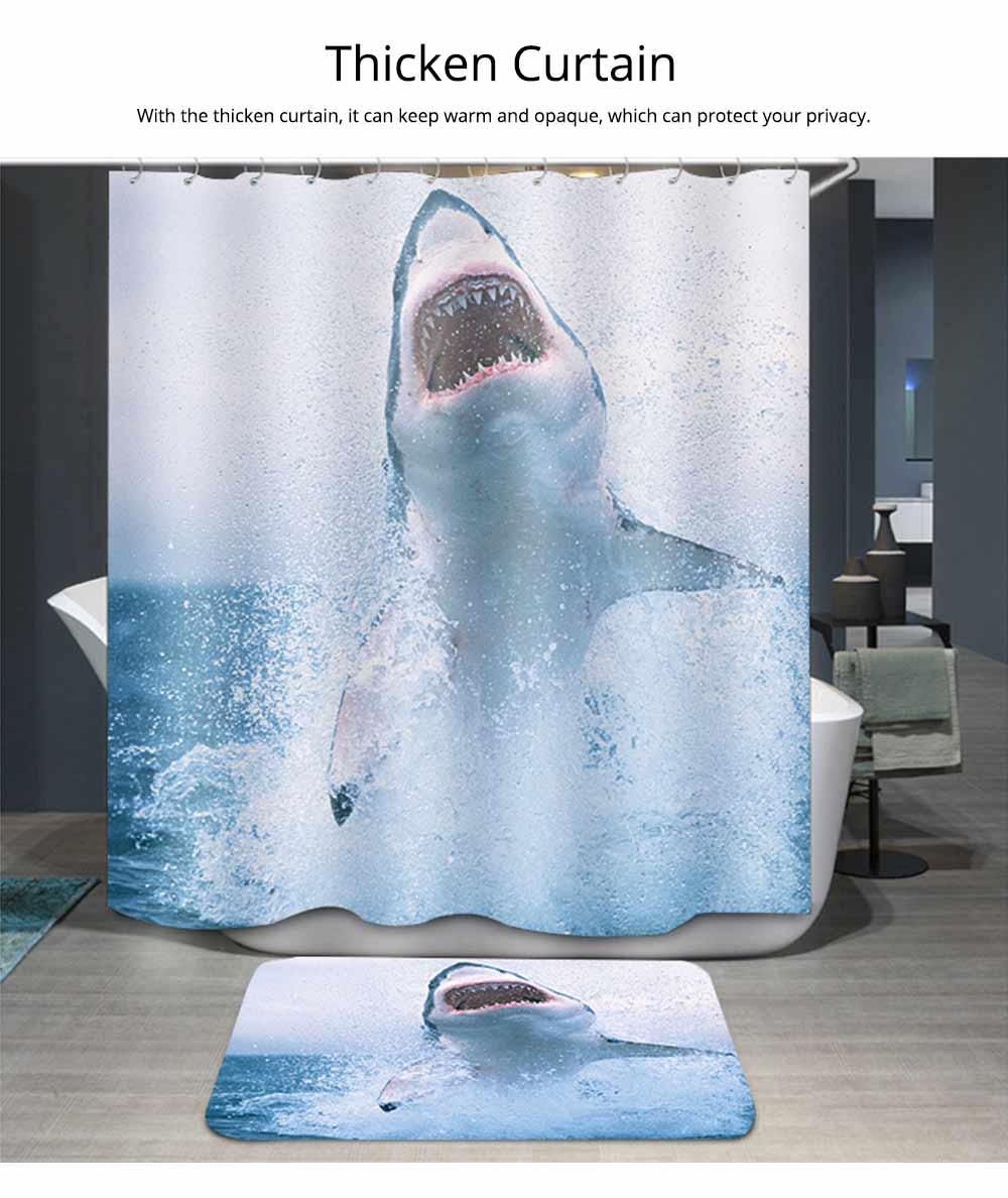 Cartoon Rabbit Shower Curtain, Waterproof American Polyester Shower Curtain 5