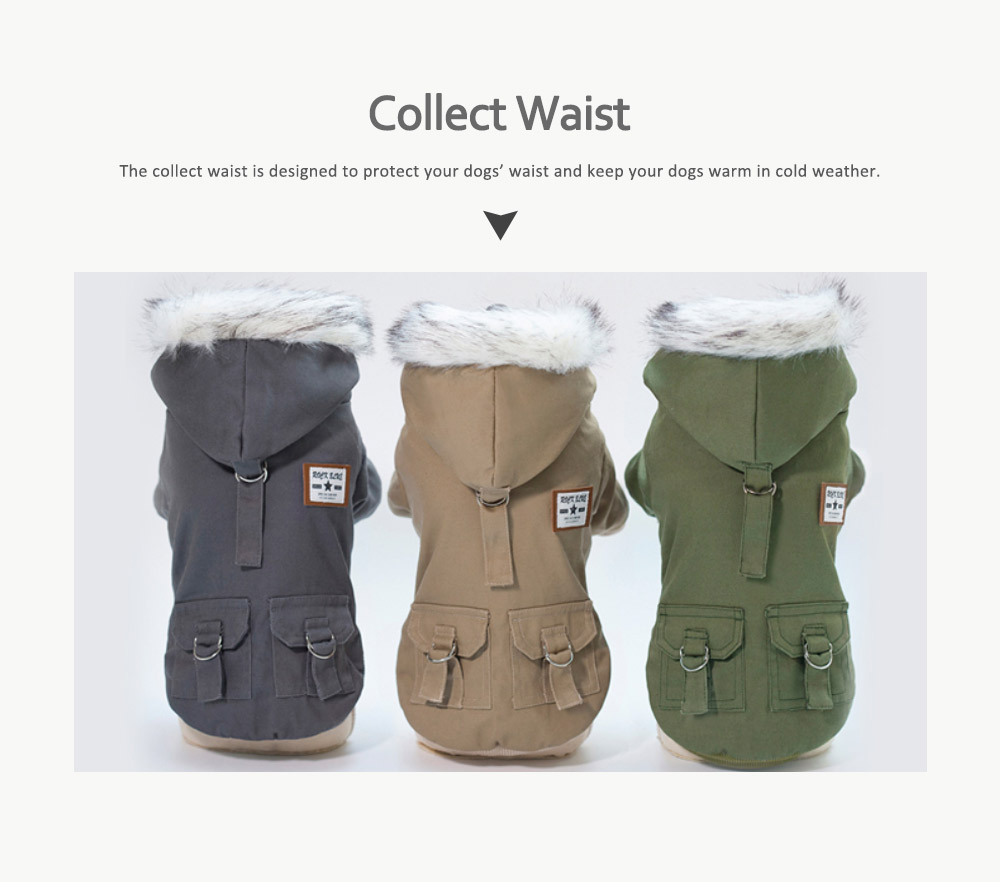 Small Dog Army Clothes, Fashion Warm Military Cotton Small Dog Clothes 4