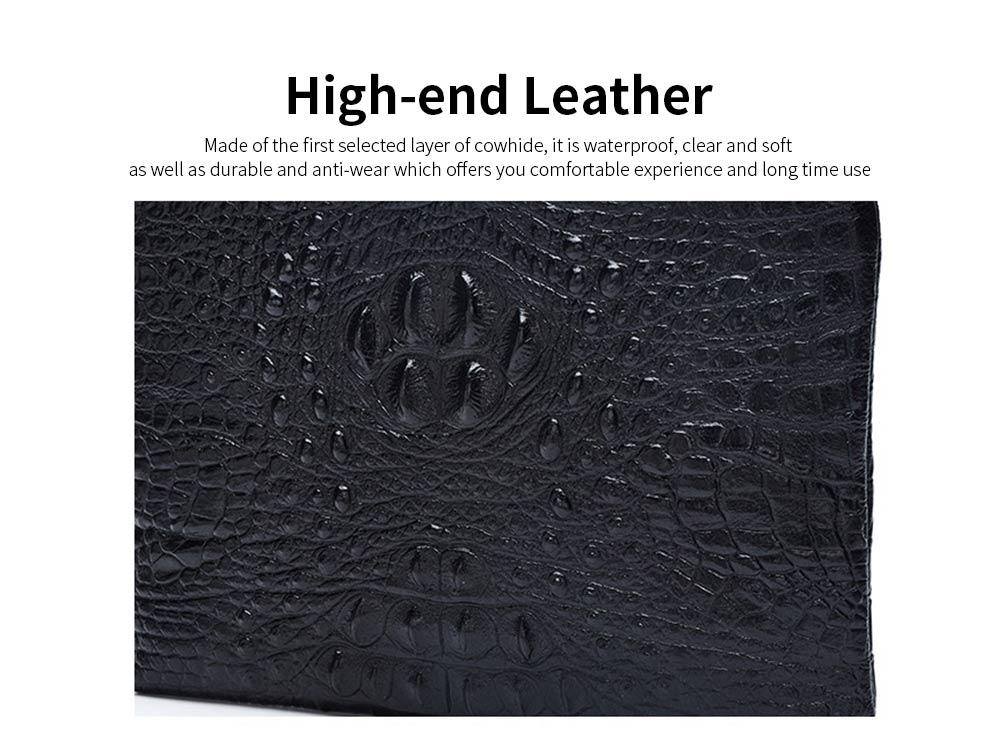 Crocodile Pattern Leather Wallet, Men's Clutch Business Bag 1